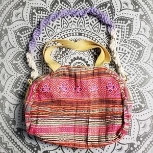 HIPPY OVERNIGHT BAG RETRO BRIGHT WOVEN TRICIA FIX